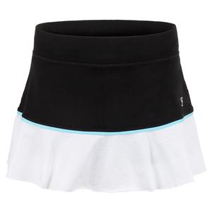 Women`s 13 Inch Tennis Skort Black and Croc