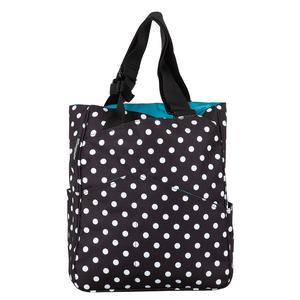 Women`s Tennis Tote Black and White Polka Dots