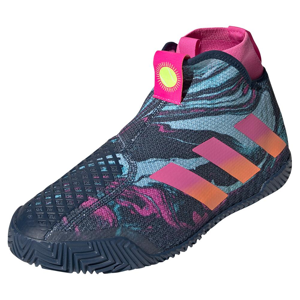 adidas Men`s Stycon Mia.Pulco Tennis Shoes Crew Navy & Screaming Pink
