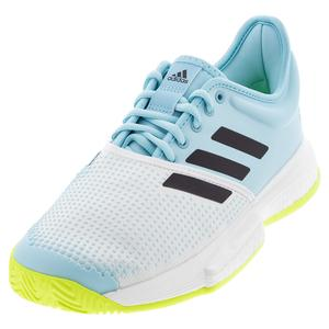 Men`s SoleCourt Primeblue Tennis Shoes Footwear White and Core Black