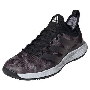 Men`s Defiant Generation Tennis Shoes Core Black and Grey Five