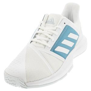 Men`s CourtJam Bounce Tennis Shoes Footwear White and Hazy Blue