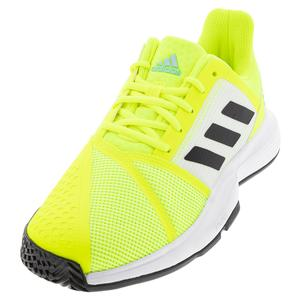Men`s CourtJam Bounce Tennis Shoes Footwear Solar Yellow and Core Black