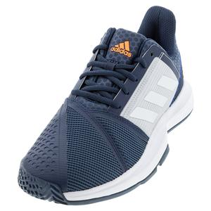 Men`s CourtJam Bounce Tennis Shoes Crew Navy and Footwear White