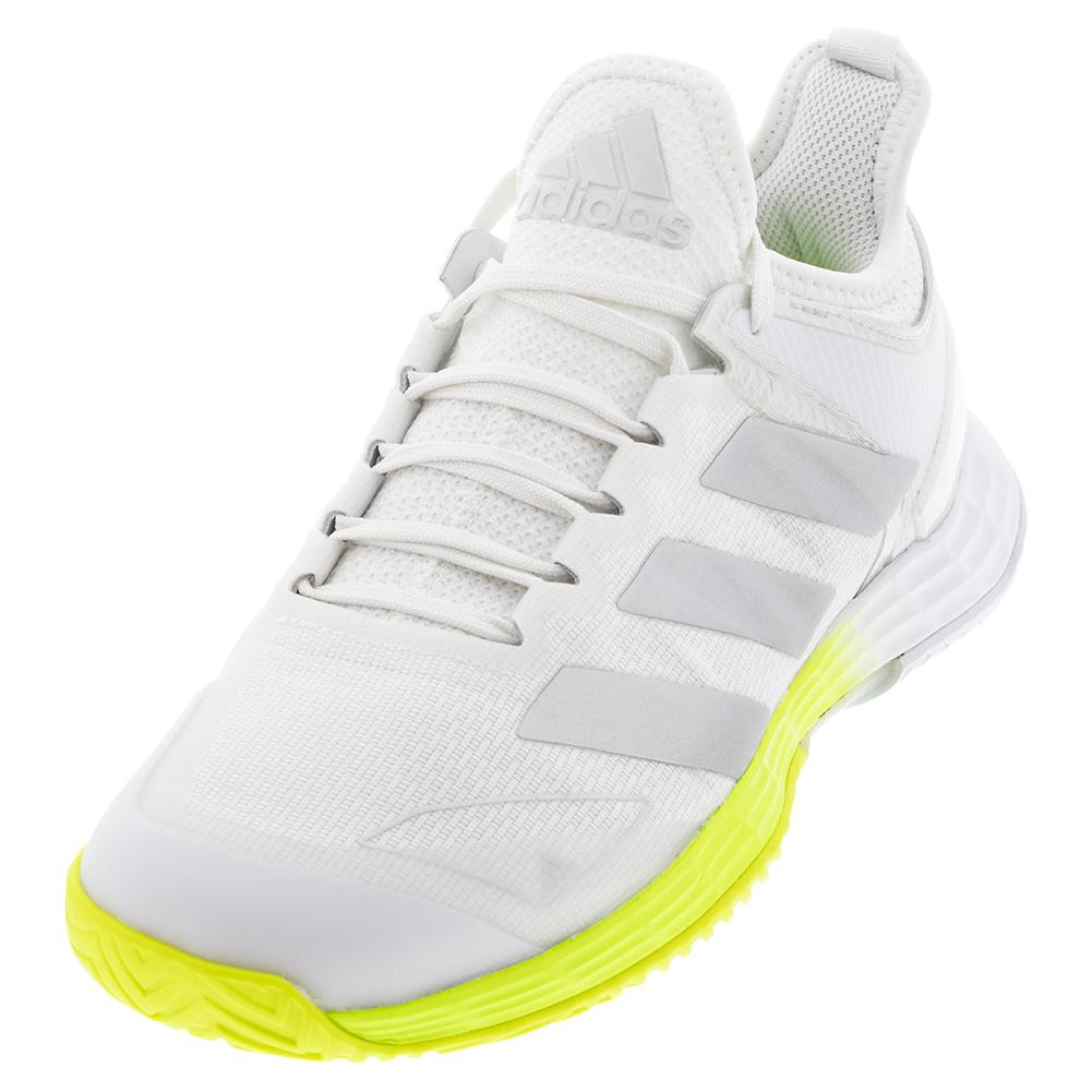 Women's Adizero Ubersonic 4 Tennis Shoes Footwear White And Silver Metallic