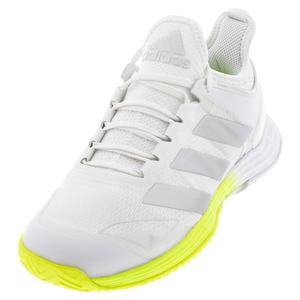 Women`s adizero Ubersonic 4 Tennis Shoes Footwear White and Silver Metallic