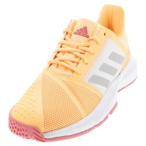 Women`s CourtJam Bounce Tennis Shoes Acid Orange and Silver Metallic