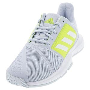 Women`s CourtJam Bounce Tennis Shoes Halo Blue and Footwear White