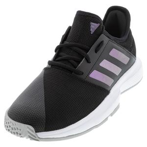 Women`s GameCourt Tennis Shoes Core Black and Grey Two