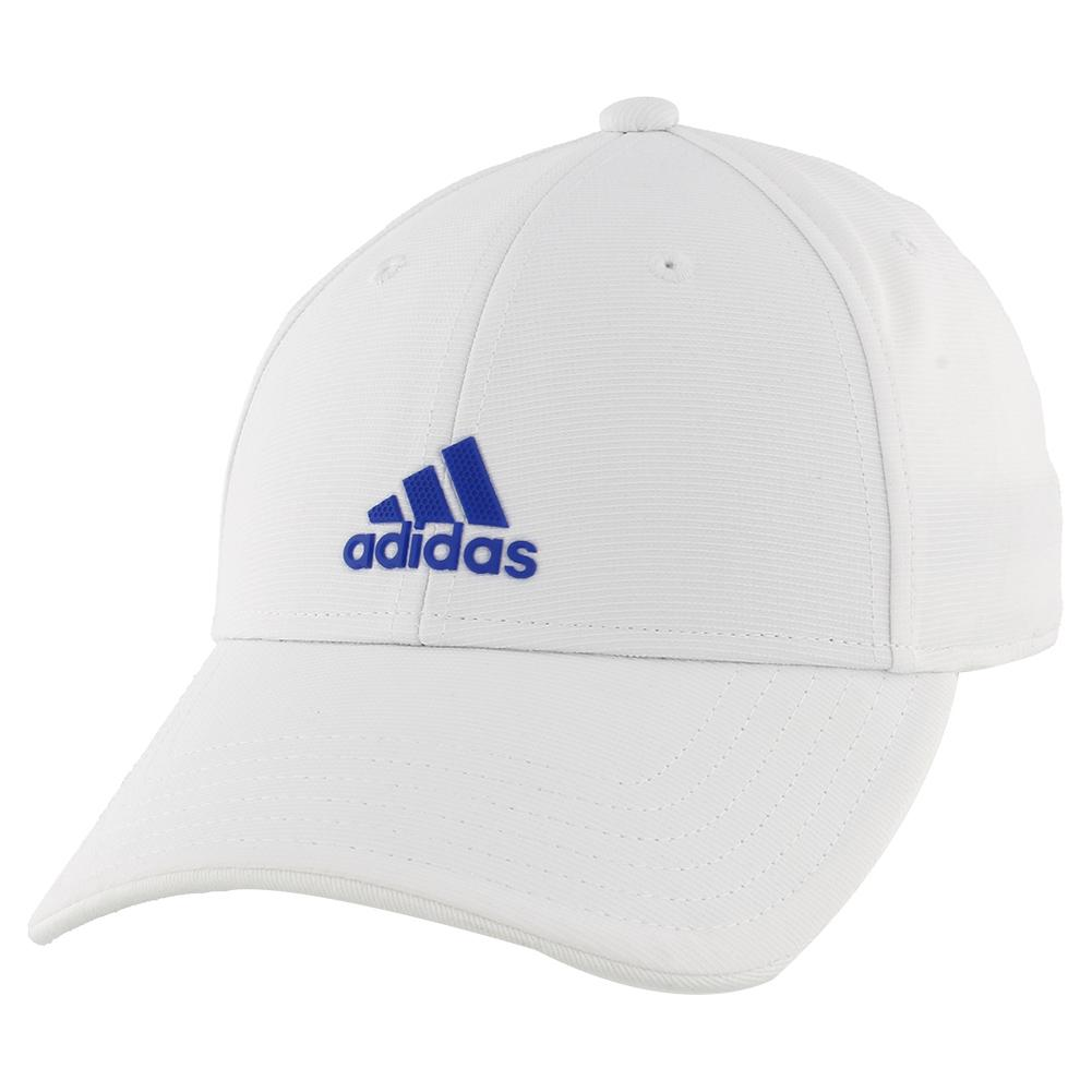 Youth Decision Tennis Cap White And Team Royal Blue