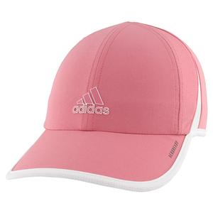 Women`s Superlite Tennis Cap Hazy Rose and White
