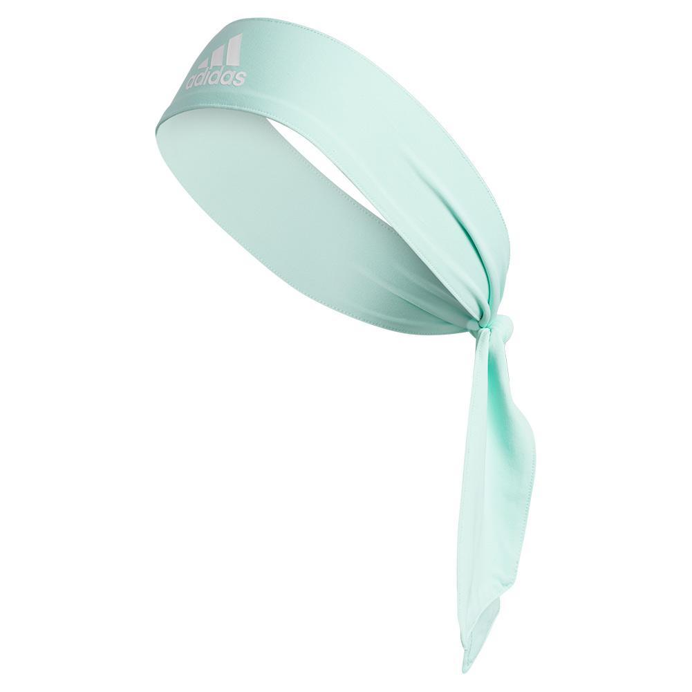 Unisex Alphaskin Tie Headband Clear Mint And White