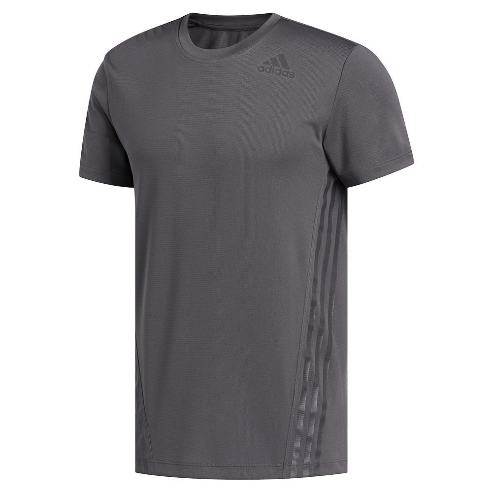 Men's Aeroready 3- Stripes Tee Grey Six