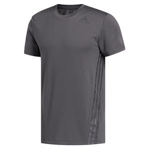 Men`s AEROREADY 3-Stripes Tee Grey Six