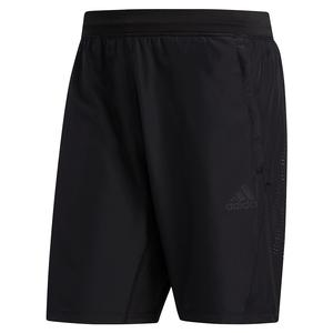 Men`s 3-Stripes Woven 8 Inch Performance Short Black