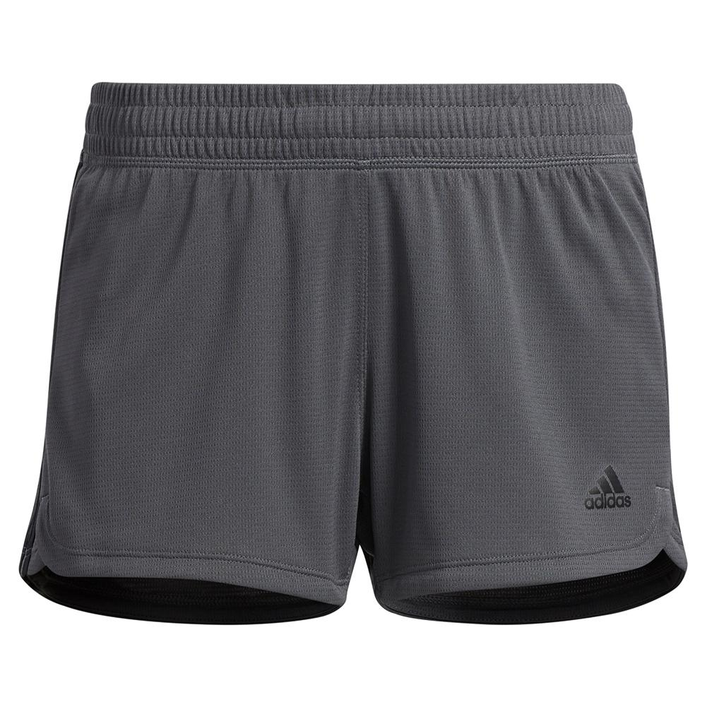 Women's Pacer 3- Stripe Knit Training Short Grey Six And Black