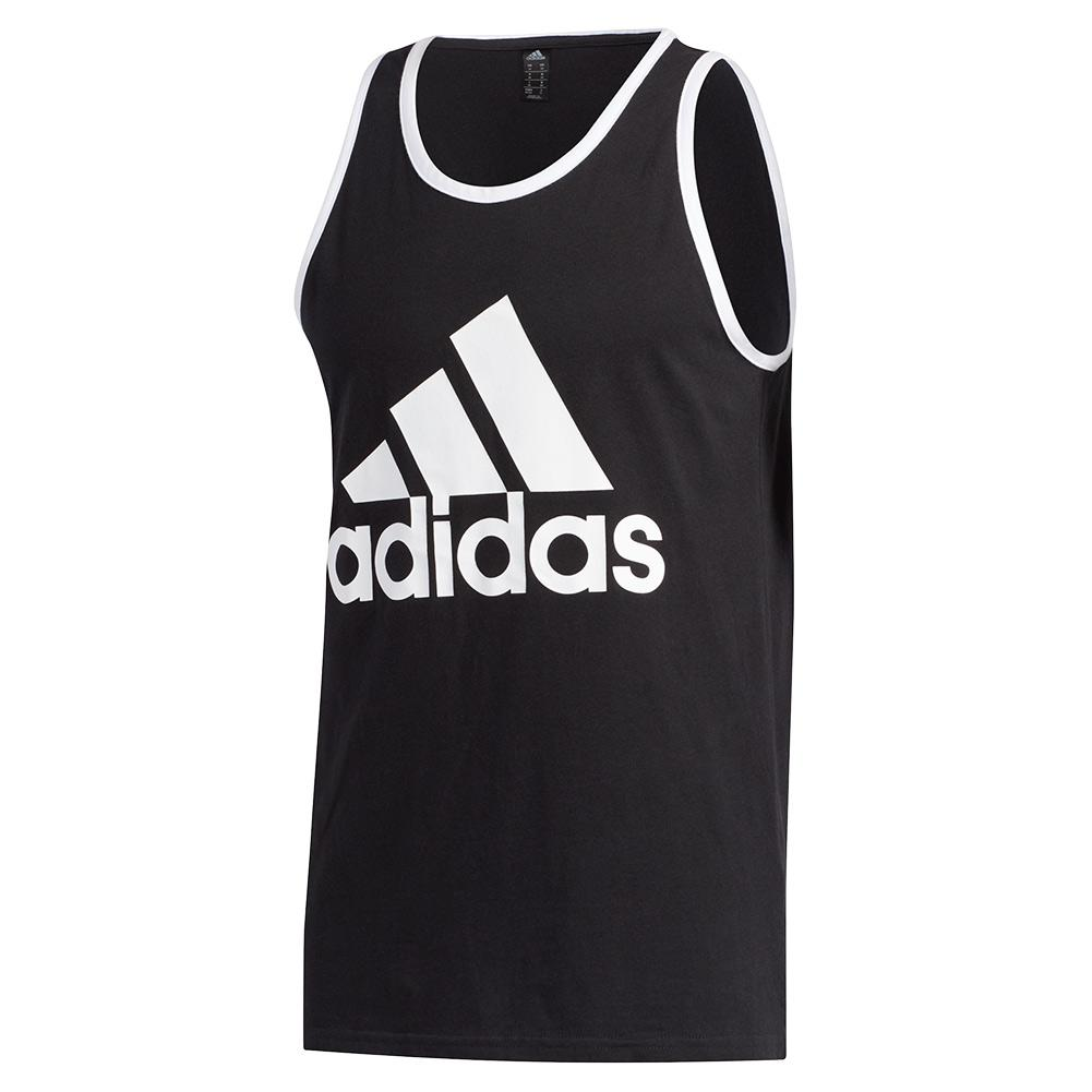 Men's Badge Of Sport Classic Tank Black And White