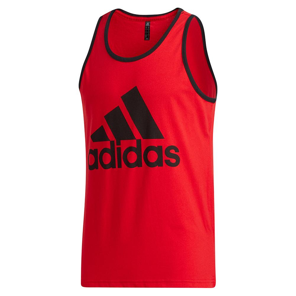 Men's Badge Of Sport Classic Tank Scarlet And Black