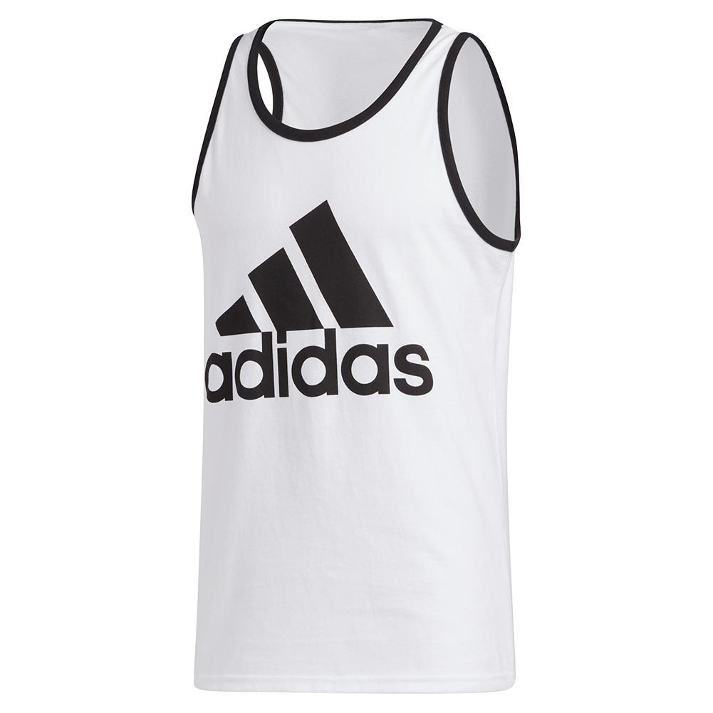 Men's Badge Of Sport Classic Tank White And Black