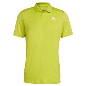 Men`s Club Tennis Polo Acid Yellow and White