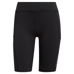 Women`s Club Short Tennis Tights Black and White