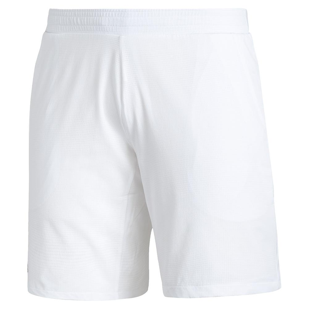 Men's Club Stretch Woven 7 Inch Tennis Short White And Black