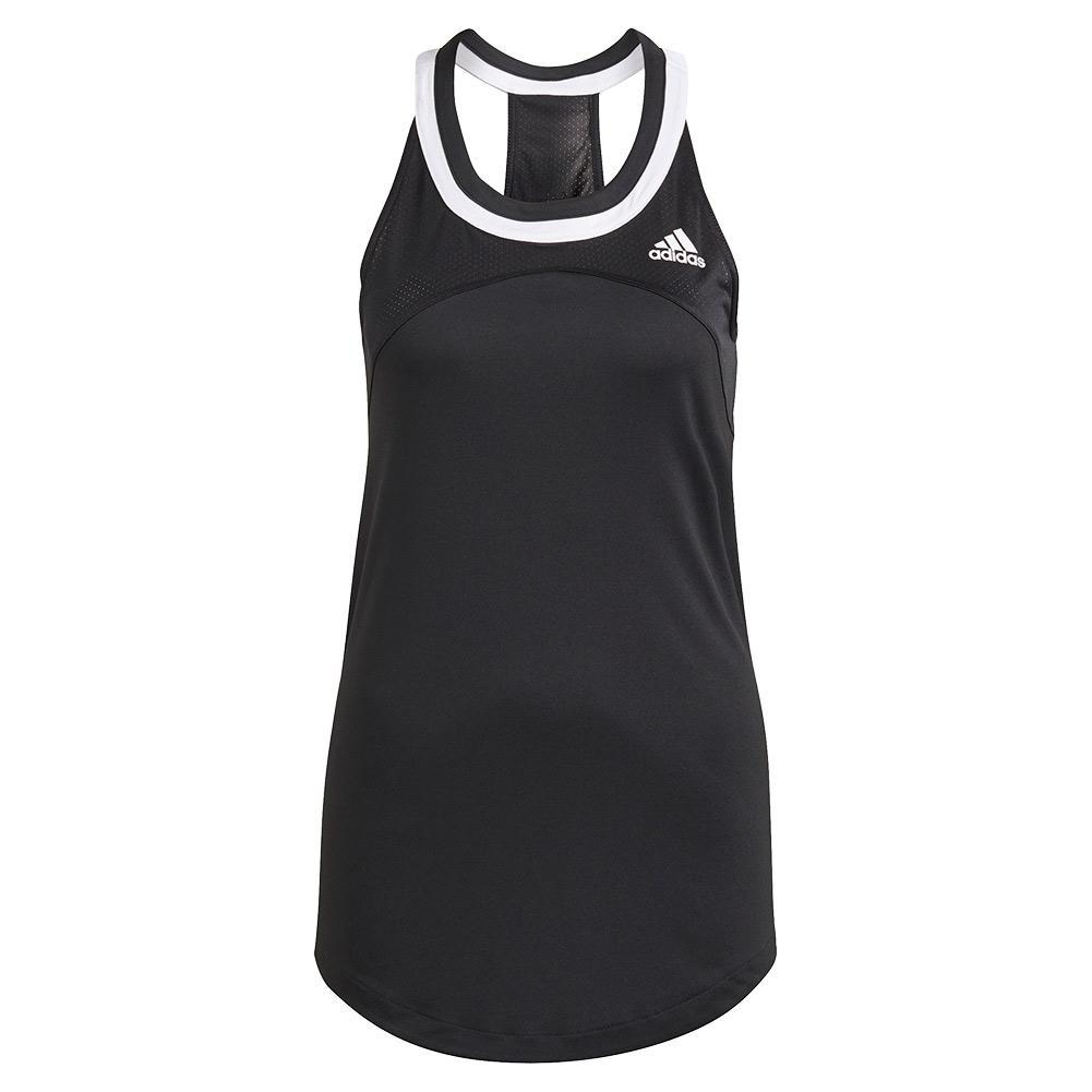 Women's Club Tennis Tank Black And White
