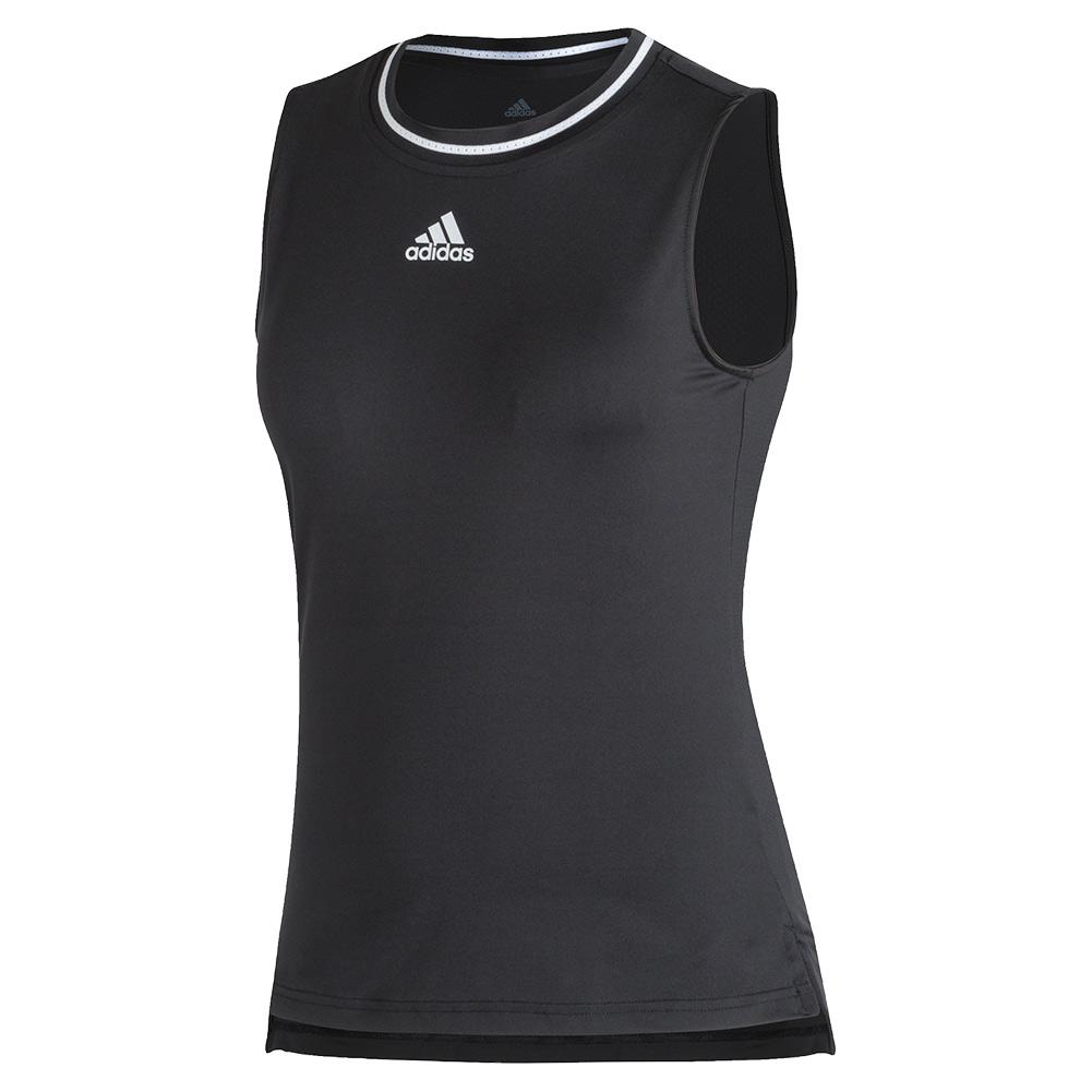 Women's Match Tennis Tank Black And White