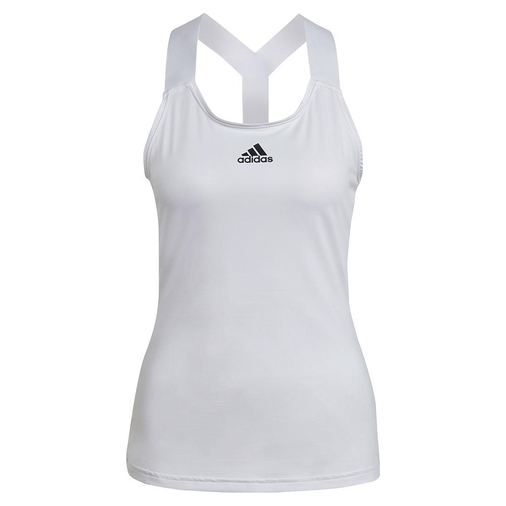 Women's Aeroready Y- Back Tennis Tank White And Black