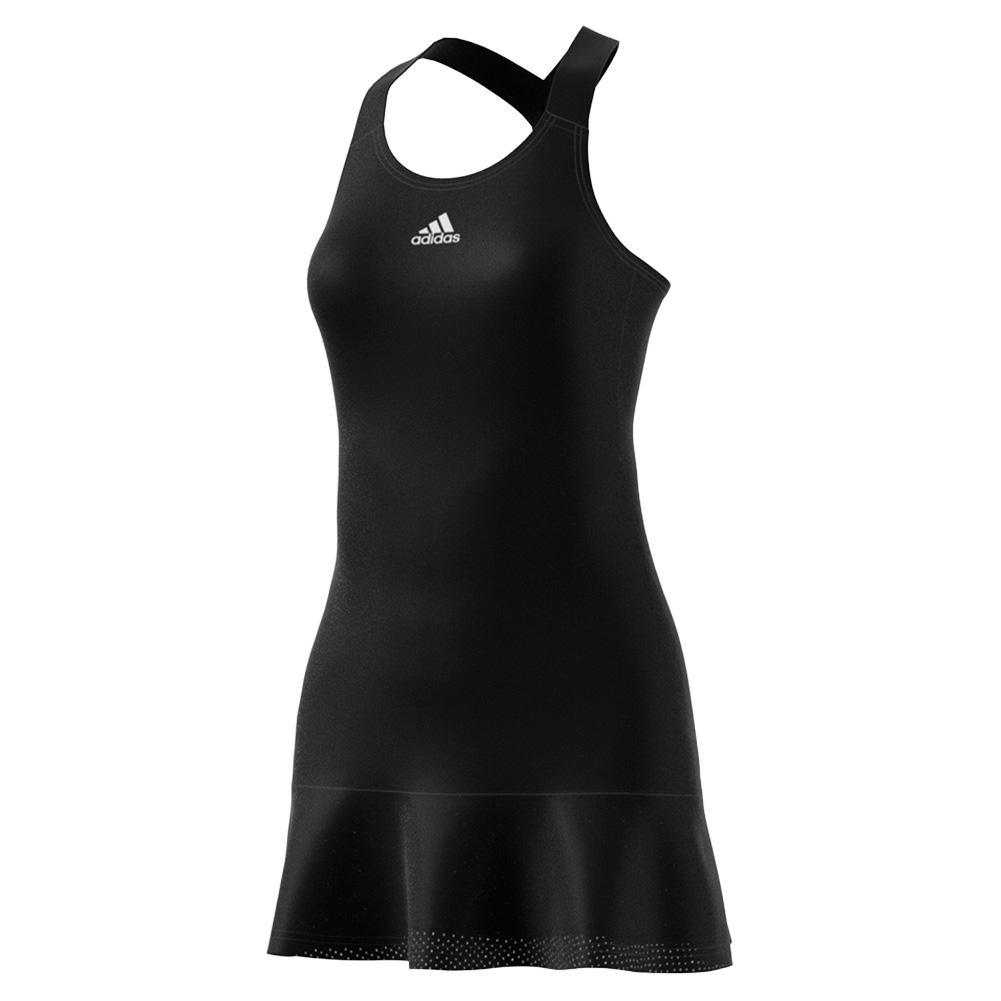 Women's Aeroready Y- Back Tennis Dress Black And White