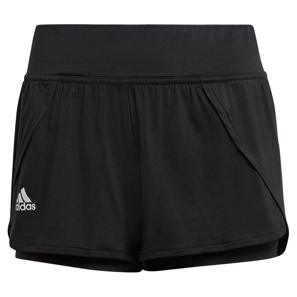Women's Aeroready Match Tennis Short Black And White