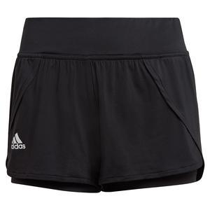 Women`s AEROREADY Match Tennis Short Black and White