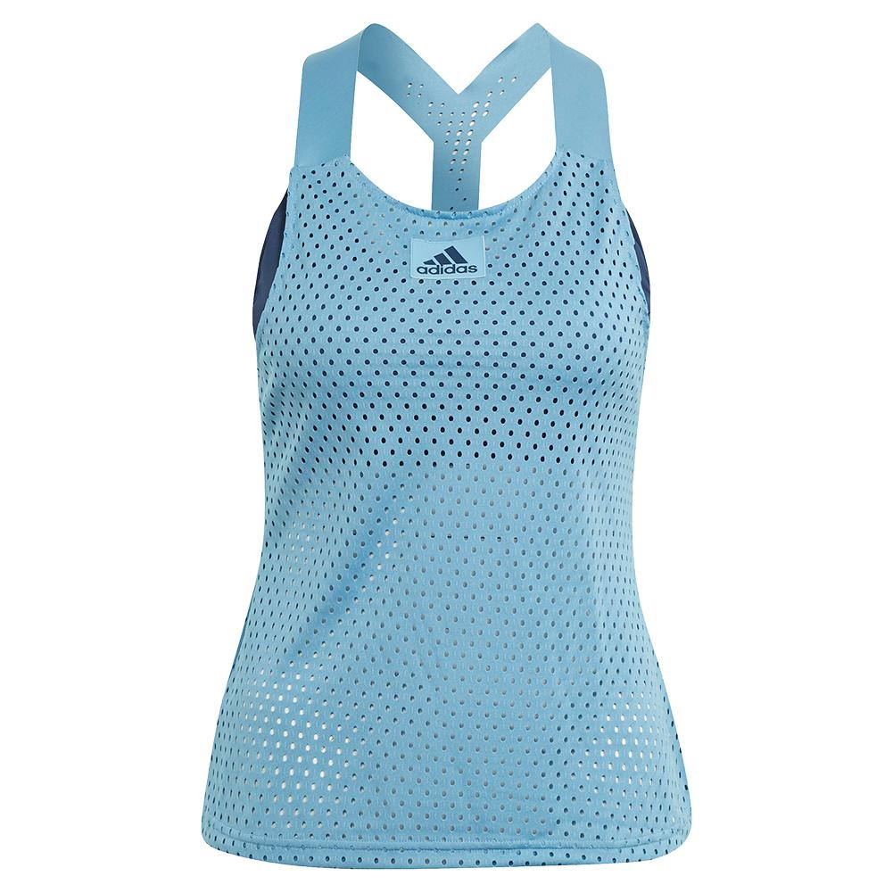 Women's Primeblue Heat.Rdy Y- Back Tennis Tank Hazy Blue And Crew Navy