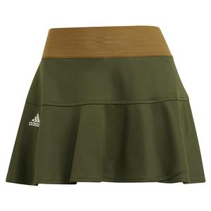 Women`s Primeblue HEAT.RDY Match 13 Inch Tennis Skort Wild Pine and Alumina