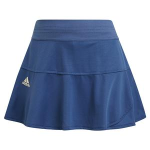 Women`s Primeblue HEAT.RDY Match 13 Inch Tennis Skort Crew Blue and Alumina