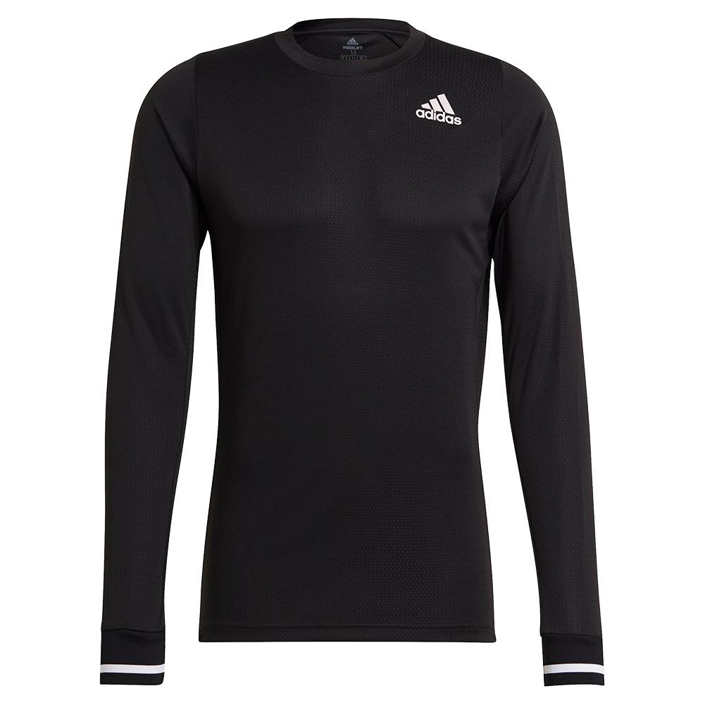 Tennisexpress Men`s FreeLift Long Sleeve Tennis Top Black