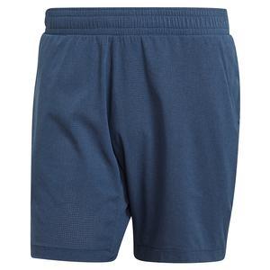 Men`s Ergo Melange 7 Inch Tennis Short Crew Blue