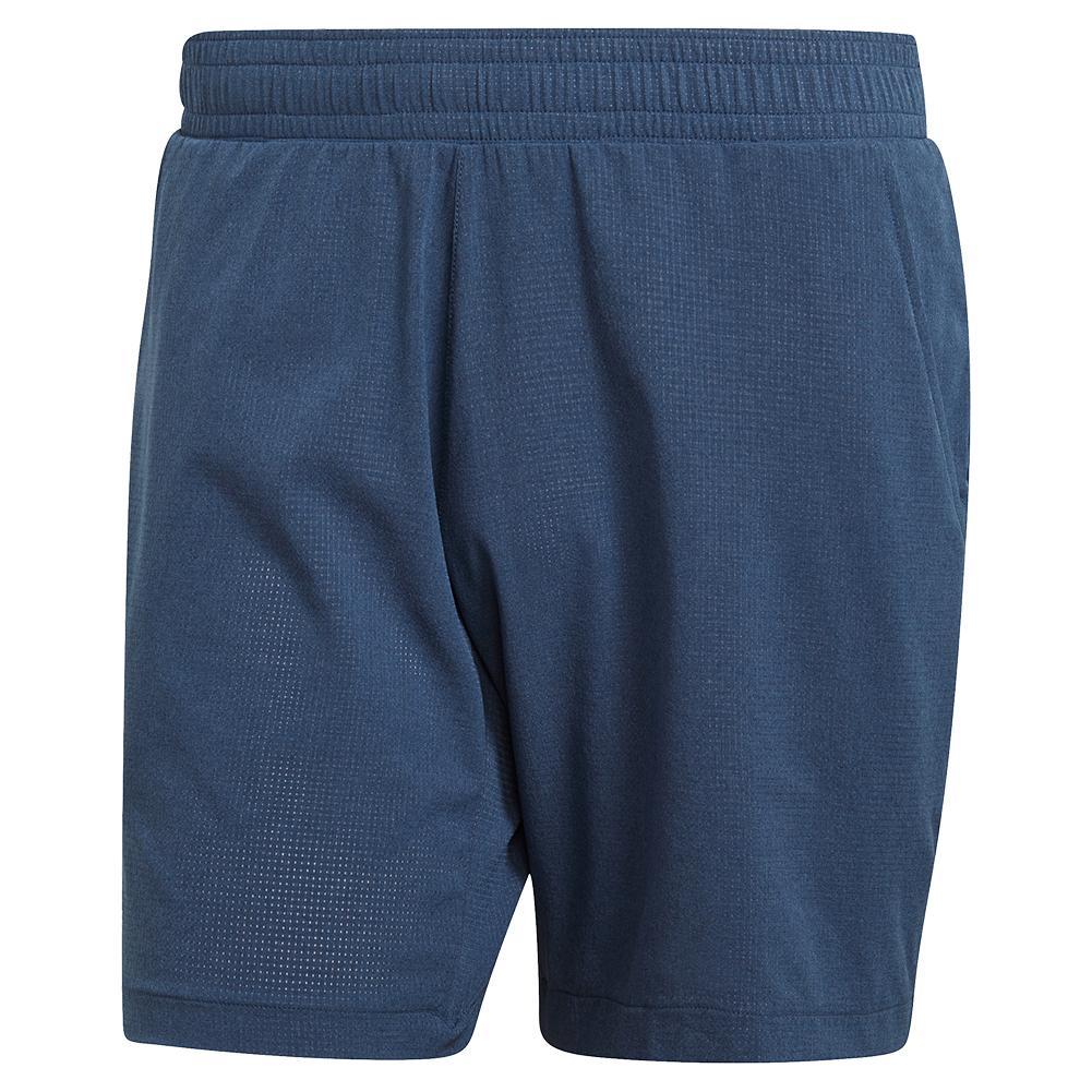Men's Ergo Melange 9 Inch Tennis Short Crew Blue