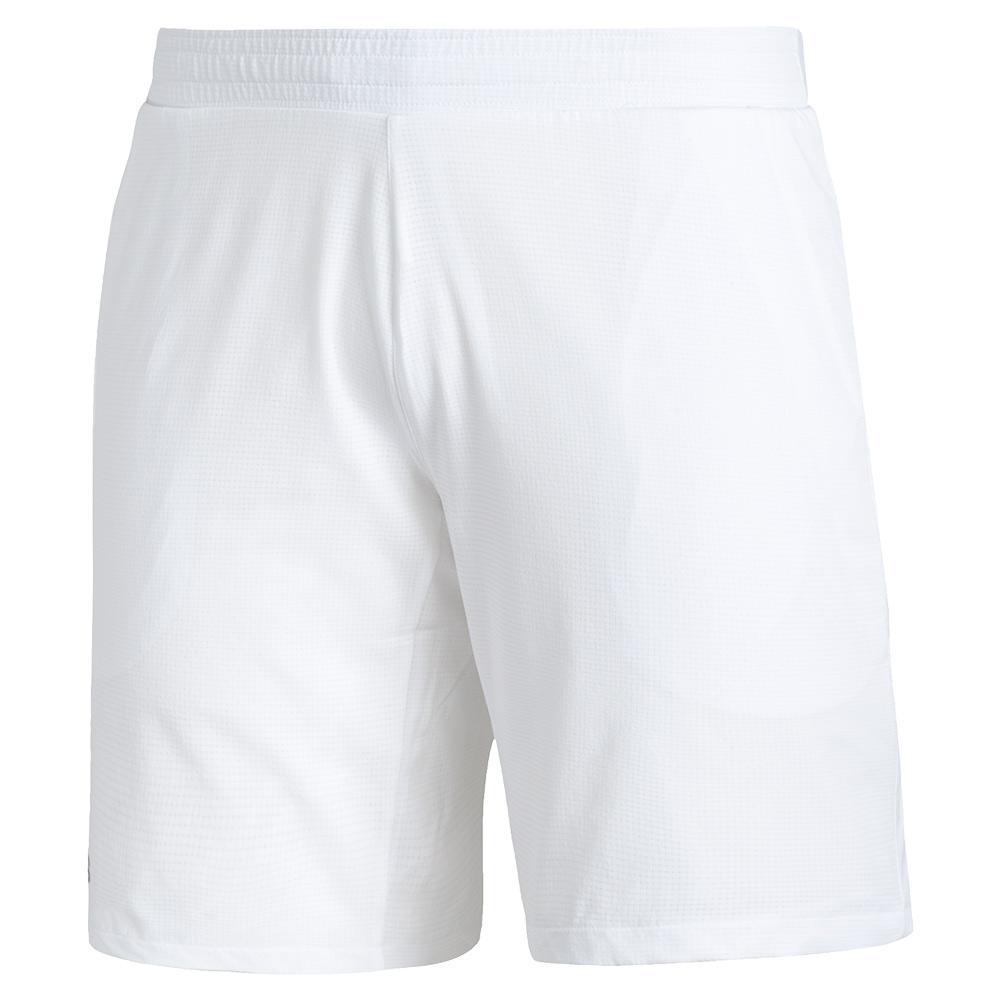 Men's Ergo 7 Inch Tennis Short White And Black