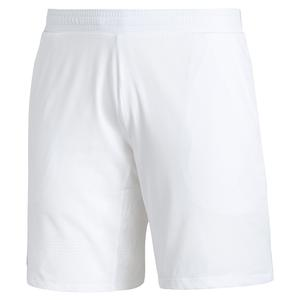 Men`s Ergo 7 Inch Tennis Short White and Black