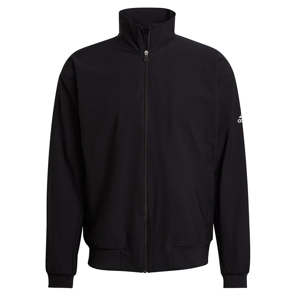 Men's Spring Woven Tennis Jacket Black