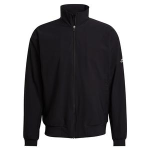 Men`s Spring Woven Tennis Jacket Black