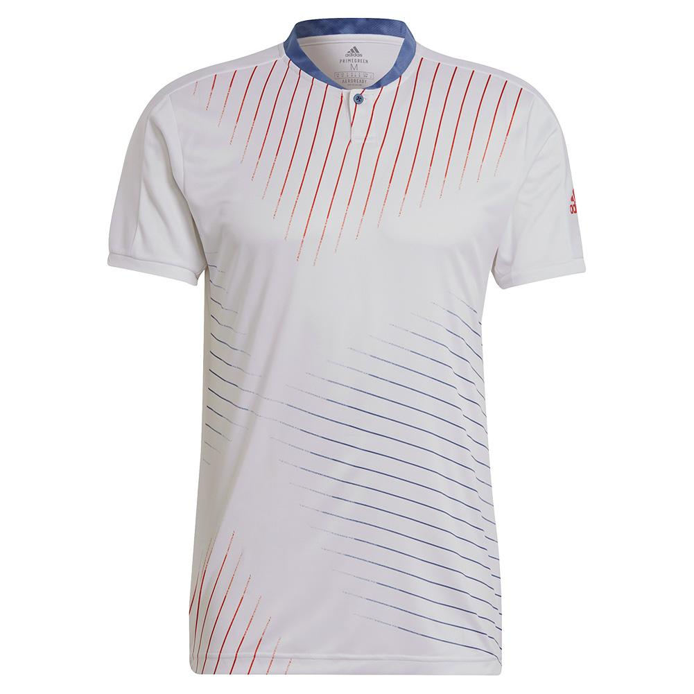 Tennisexpress Men`s Graphic Tennis Top White