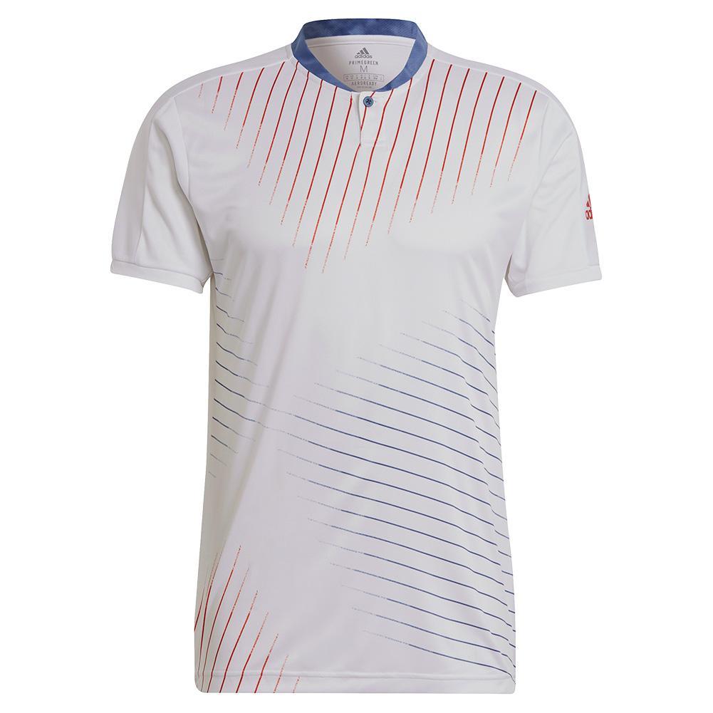 Men's Graphic Tennis Top White