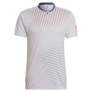 Men`s Graphic Tennis Top White