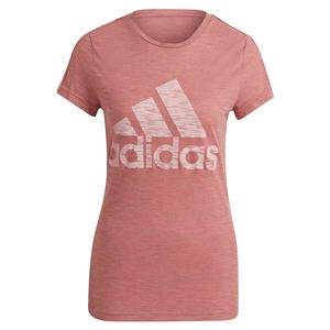 Women`s Winners Short Sleeve Crew Training Tee Hazy Rose Melange