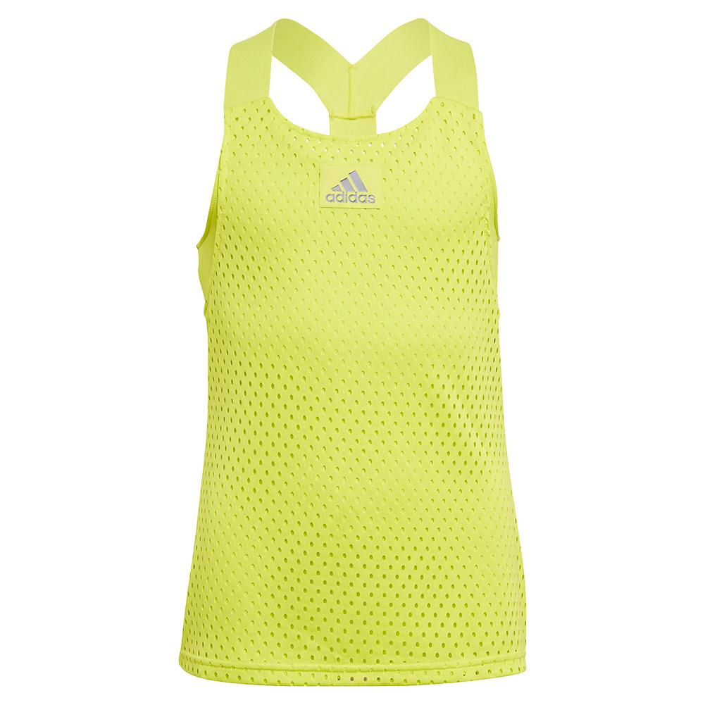 Girls ` Primeblue Heat.Rdy Y- Back Tennis Tank Acid Yellow
