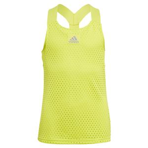 Girls` Primeblue HEAT.RDY Y-Back Tennis Tank Acid Yellow