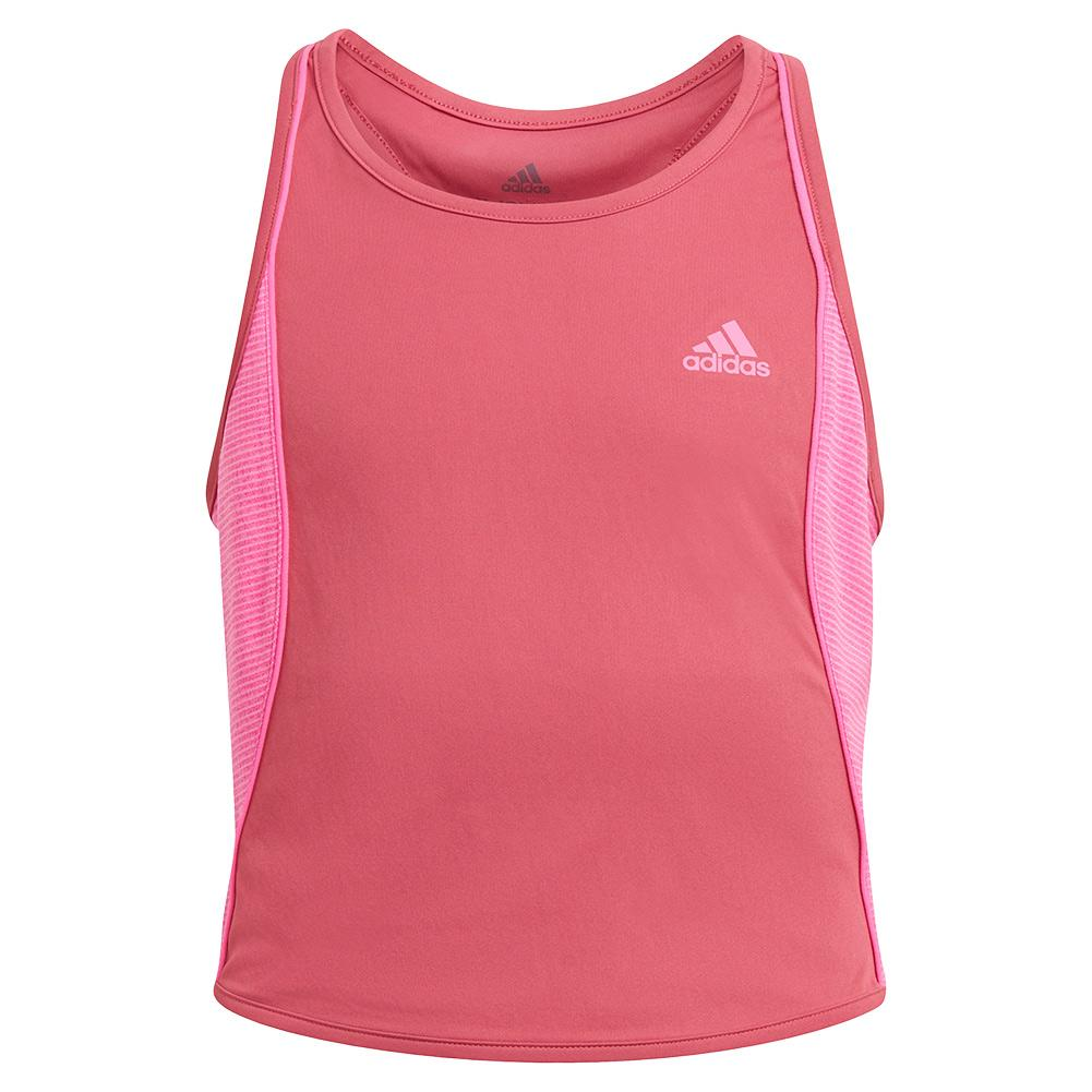 Girls ` Pop Up Tennis Tank Wild And Screaming Pink