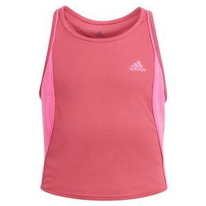 Girls` Pop Up Tennis Tank Wild and Screaming Pink
